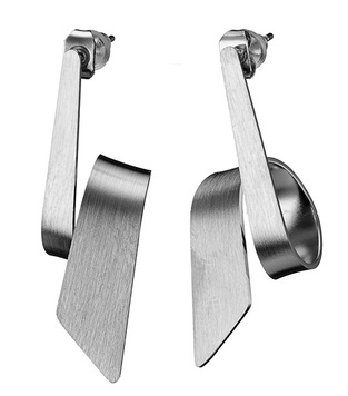 EARRINGS STAINLESS STEEL SILVER TIE