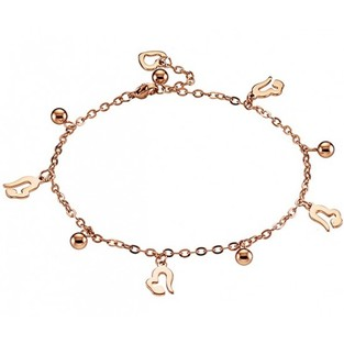 ANKLE BRACELET STAINLESS STEEL ROSE GOLD