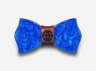 TAKE ME TO CHURCH – BLUE – GLASS BOW TIE
